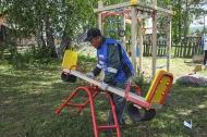 Детский комплекс теперь есть и в поселке Прогресс